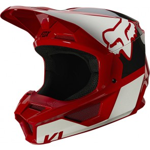 Kask FOX Junior V-1 Reven czerwony