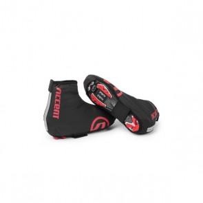 Accent Pokrowce na buty Rain Cover, wodoodporne czarno-czerwone, S (36-38)
