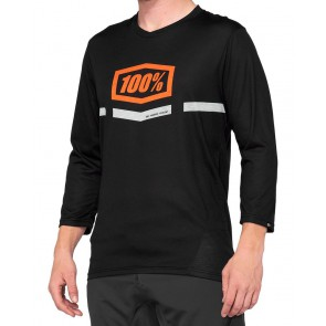 Koszulka męska 100% AIRMATIC 3/4 Sleeve black orange roz. L (NEW)
