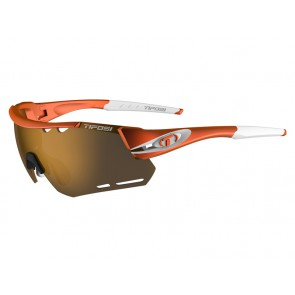 Okulary TIFOSI ALLIANT matte orange (3szkła Brown 17,1% transmisja światła, AC Red, Clear) (NEW)