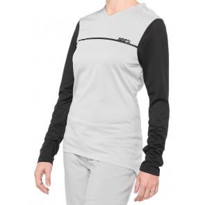 Koszulka damska 100% RIDECAMP Womens Longsleeve Jersey długi rękaw grey black