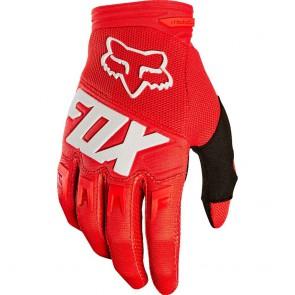 FOX DIRTPAW RACE JUNIOR rękawiczki czerwony