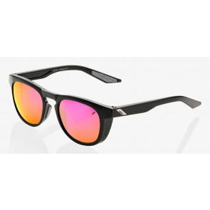 Okulary 100% SLENT Polished Black - Purple Multilayer Mirror Lens (Szkła Fioletowe Lustrzane Wielowarstwowe, przepuszczalność światła 24%) (NEW)