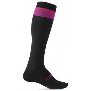Skarpety GIRO HIGHTOWER MERINO WOOL charcoal black pink berry roz. M (40-42) (NEW)