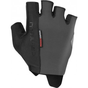 Rękawiczki kolarskie Rosso Corsa Espresso, czarno-szare, rozmiar XXL