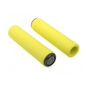 Chwyty kierownicy AUTHOR SILICONE ELITE 130mm żółte fluo
