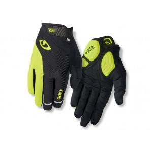 Rękawiczki męskie GIRO STRADE DURE SG LF długi palec black highlight yellow roz. L (obwód dłoni 229-248 mm / dł. dłoni 189-199 mm)