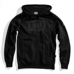 Bluza męska 100% SYNDICATE Hooded Zip Sweatshirt Black Black roz. L (NEW)