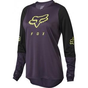 FOX Koszulka Rowerowa  Lady z Długim Rękawem Defend Dark Purple