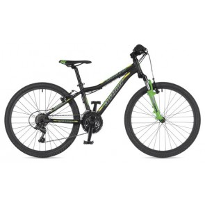 "A-MATRIX 24 12,5"" czarno(mat)/zielony(fluo), rower AUTHOR'19"