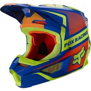 Kask FOX V-1 Oktiv niebieski