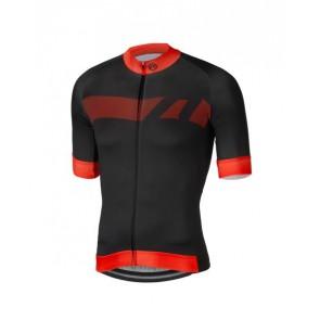 Koszulka kolarska Vector, czarno-czerwona, rozmiar L