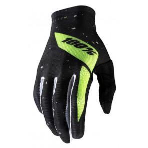 Rękawiczki 100% CELIUM Glove black fluo yellow roz. XL (długość dłoni 200-209 mm) (NEW)