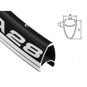 Obręcz szosa ALEXRIMS DA28 700x28otw. bok CNC czarna (DWZ)