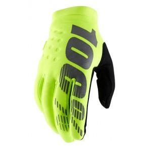 Rękawiczki 100% BRISKER Glove fluo yellow roz. M (długość dłoni 187-193 mm) (NEW)