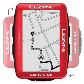 Komputer rowerowy LEZYNE MEGA XL GPS metallic red (LIMITED EDITION)