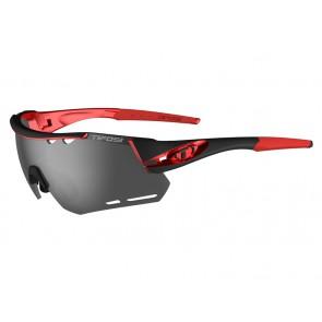 Okulary TIFOSI ALLIANT black red (3szkła Smoke 15,4% transmisja światła, AC Red, Clear) (NEW)