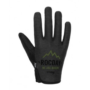 Rękawiczki ROCDAY Flow New czarny/zielony