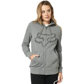 Bluza Fox Lady Z Kapturem Na Zamek Barstow Heather Graphite