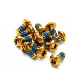 Śruby a2z do tarcz 12szt złote