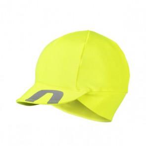 Accent Czapka kolarska z daszkiem Superroubaix, żółta fluo, rozmiar UNI