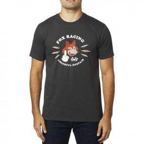 T-shirt Fox Cheerful Despair Prem Black Vintage