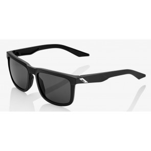 Okulary 100% BLAKE Soft Tact Black - Smoke Lens (Szkła Czarne Smoke)