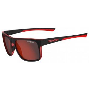 Okulary TIFOSI SWICK satin black/crimson (1szkło Smoke Red 15,4% transmisja światła) (NEW)