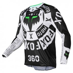 Jersey FOX 360 Nobyl black/white