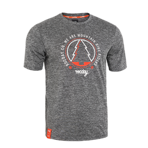 Koszulka RANGER NEW SANITIZED® szary melanż – pomarańczowy XXL