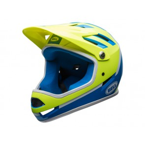 Bell 2018 Sanction kask gloss force blue retina assasin