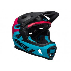 BELL SUPER DH MIPS SPHERICAL unhinged matte gloss black berry blue kask