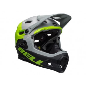 BELL SUPER DH MIPS SPHERICAL unhinged matte gloss gray green black kask