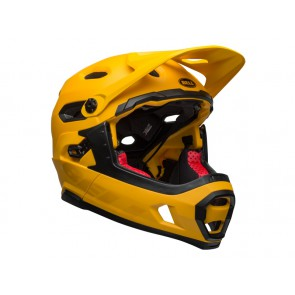BELL SUPER DH MIPS SPHERICAL matte gloss yellow black kask