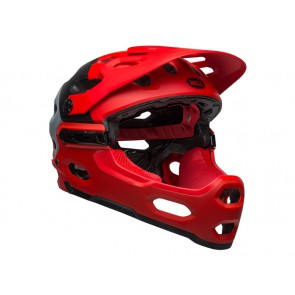 BELL SUPER 3R MIPS downdraft matte crimson black kask