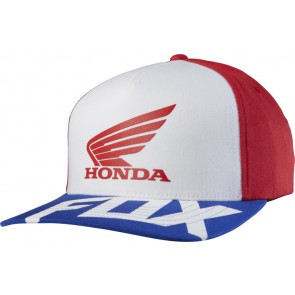 Czapka Z Daszkiem Fox Honda Basic Red/whte L/xl