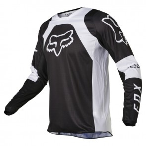 Jersey FOX 180 Lux czarny/biały