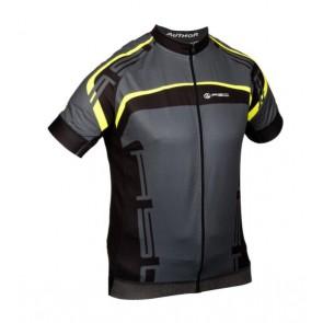 Koszulka AUTHOR MEN SPORT X4 szaro-czarno-żółta L