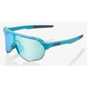 Okulary 100% S2 PeterSaganLE Blue Topaz - Blue Topaz Multilayer Mirror Lens (Szkła Błękitne Lustrzane Wielowarstwowe, przepuszczalność światła 14% + Szkła Przeźroczyste, przepuszczalność światła 93%)