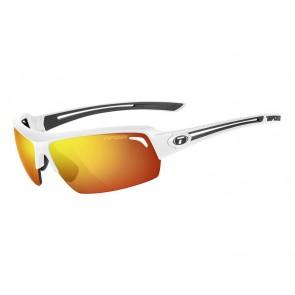 Okulary TIFOSI JUST matte white (1szkło Smoke Red 15,4% transmisja światła) (DWZ)