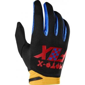 FOX DIRTPAW CZAR rękawiczki-czarno-żółty-L