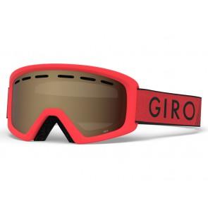 Gogle zimowe GIRO REV RED BLACK ZOOM (szyba AMBER ROSE 39% S2)