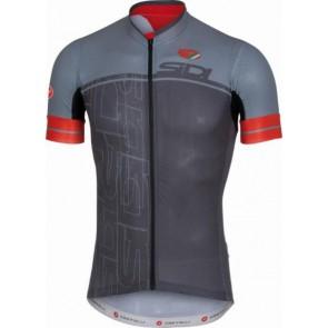 Koszulka  URBAN AERO RACE szaro-czerwona L