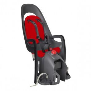 Hamax Fotelik row. CARESS szaro-ciemnoszary czerwona wyściółka, z adapterem na bagażnik