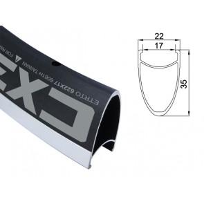 Obręcz szosa ALEXRIMS CX35 700x24otw. czarna