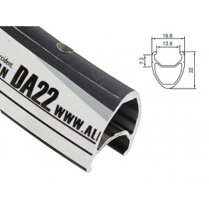 Obręcz szosa ALEXRIMS DA22 700x36otw. bok CNC czarna