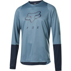 FOX Koszulka Rowerowa  z Długim Rękawem Defend head Light Blue