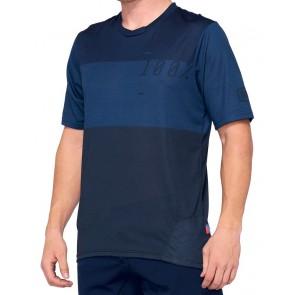 Koszulka męska 100% AIRMATIC Jersey krótki rękaw blue midnight