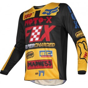 FOX 180 CZAR jersey-żółty-L
