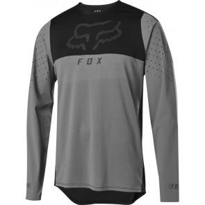 FOX Koszulka Rowerowa  z Długim Rękawem Flexair Delta Pewter